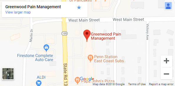 Map of Greenwood Chronic Pain Centers